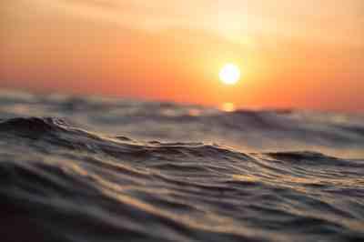 Free picture: sunrise, wave, pacific, beach, sea, ocean ...
