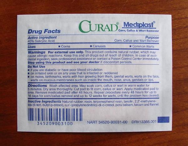 Salicylic Warts Pads 40 Acid