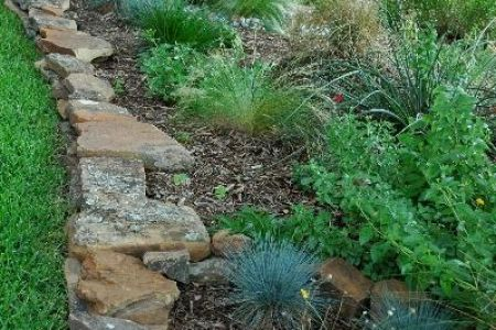 37 Garden Border Ideas To Dress Up Your Landscape Edging Stacked Flat Edging Stones