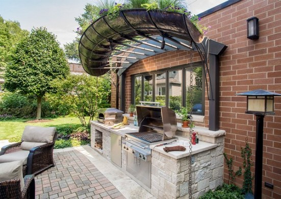 31 Amazing Outdoor Kitchen Ideas   Planted Well Outdoor Kitchen Designs With Pergolas