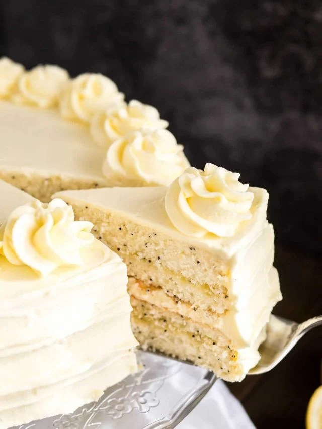 Lemon Poppy Seed Cake Recipe With Lemon Curd Frosting