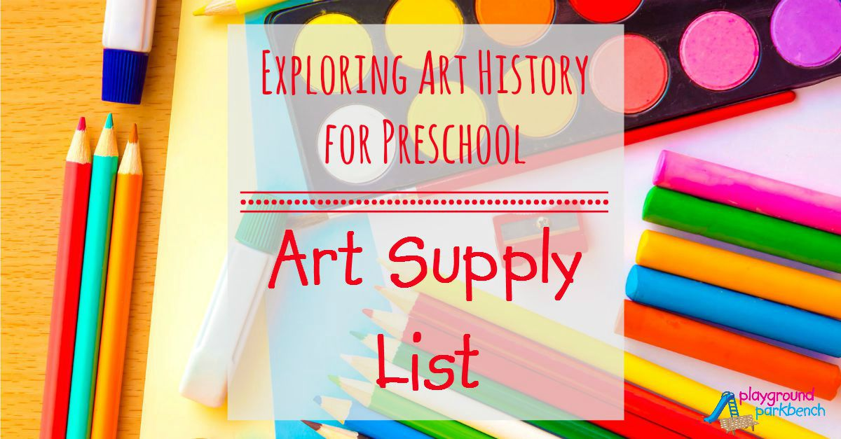 Art For Preschool Art Supplies