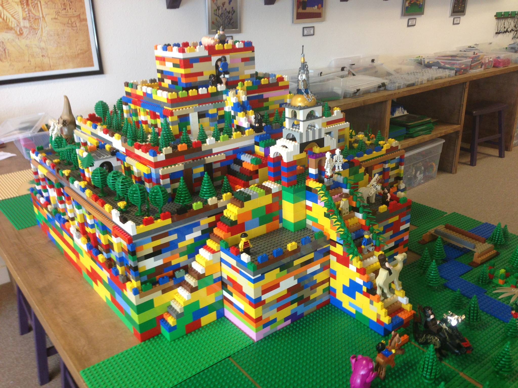 LEGO Sumerian Ziggurat Built By Our Young Architects   Engineers