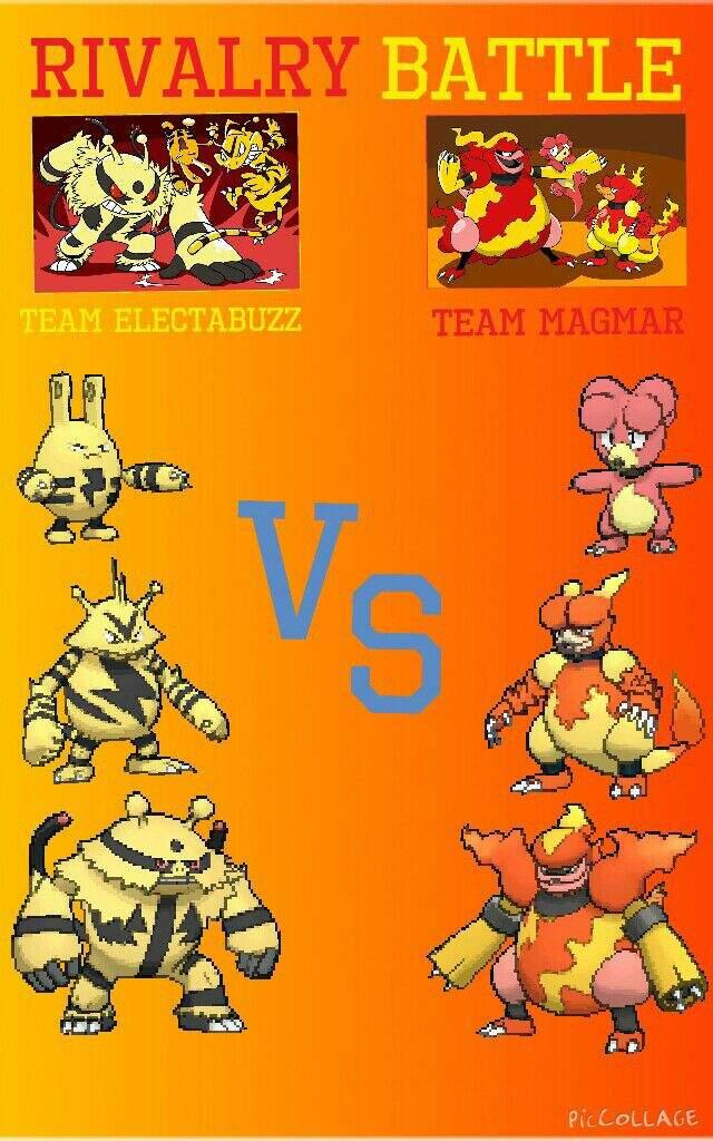 Rivalry Battle: Team Magmar vs Team Electabuzz | Pokémon Amino