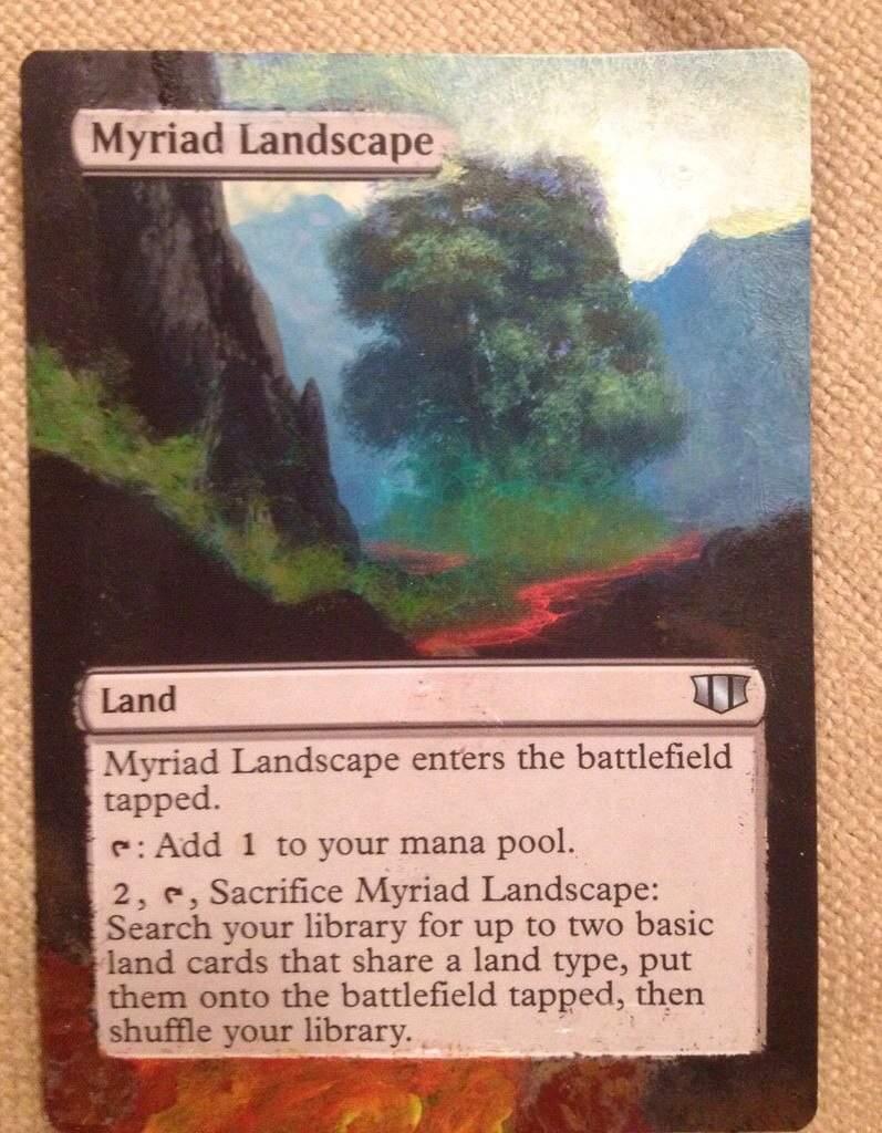 MTG Commander 2020 Myriad Landscape NM Card