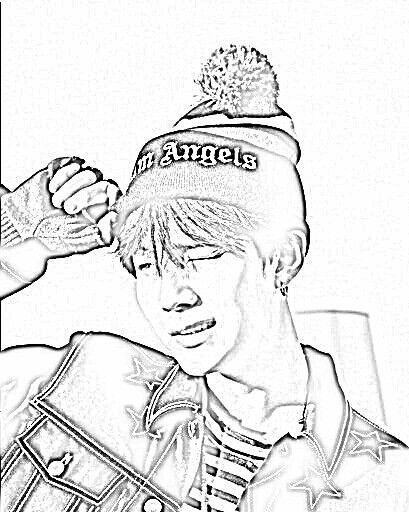 Bts Kpop Coloring Pages