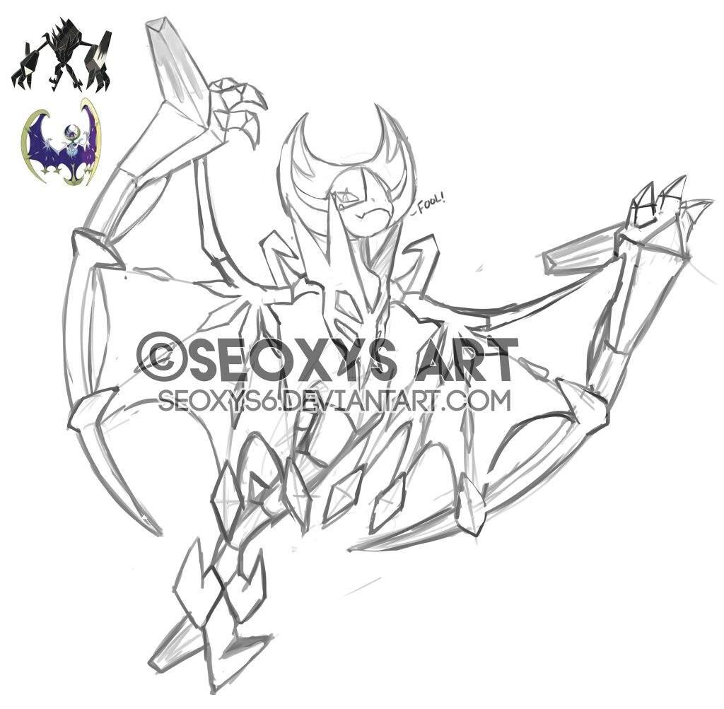Pokemon Duskmane Necrozma Coloring Page
