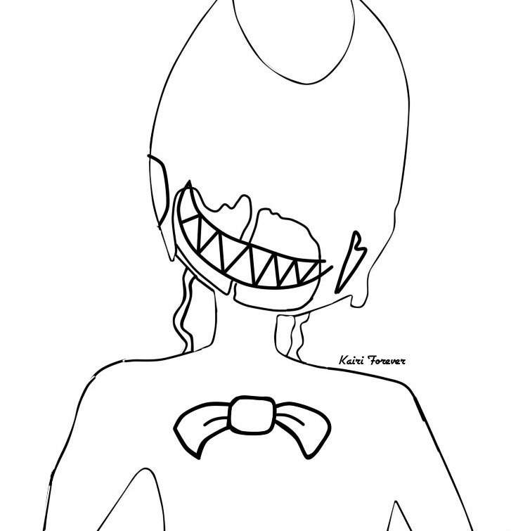 And Ink Machine Ink Monster Bendy Coloring Pages