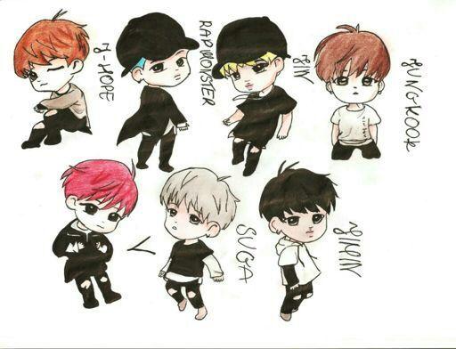 Jin Bts Cartoon Drawing Easy