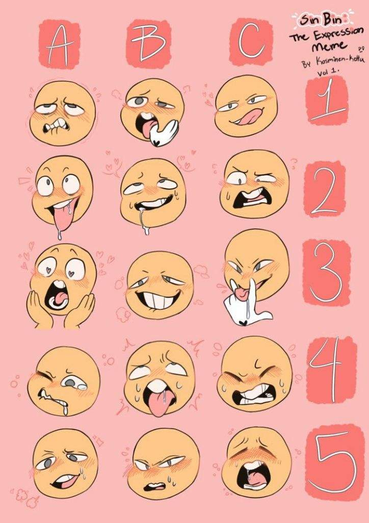 Face Eddsworld Reference Expressions Drawing