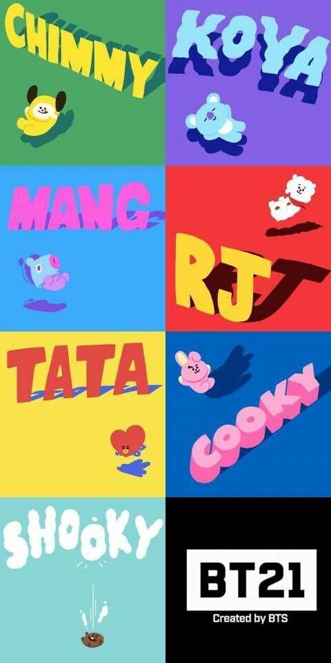 Names Bts Bt21 Characters