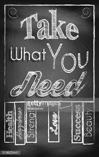Take What You Need Stock Vectors Clipart Me