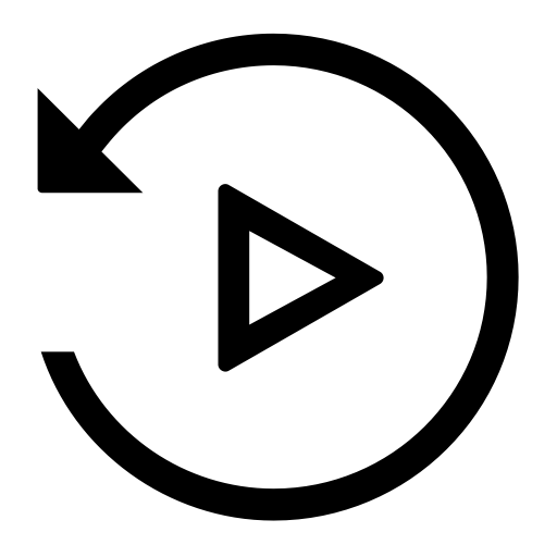 Playback, Replay, Rewind Icon With PNG and Vector Format ...