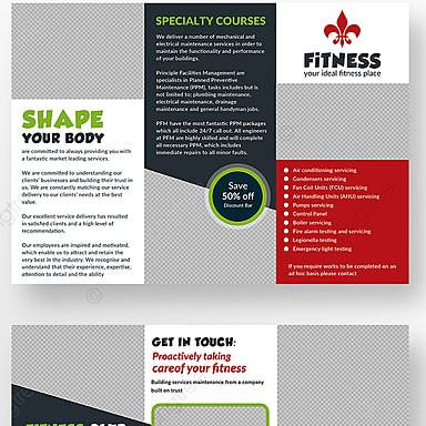 HD Decor Images » Fitness Brochure Tri Fold Template for Free Download on Pngtree Fitness Brochure Tri Fold Template