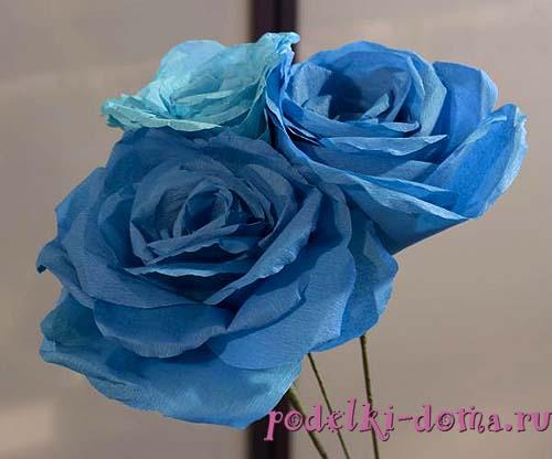 Palumpon ng mga rosas mula sa papel