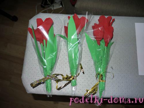 Cvety iz konfet6.