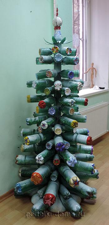 Árvore de Natal de garrafas