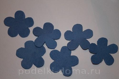 цветочки из акварельной бумаги 01