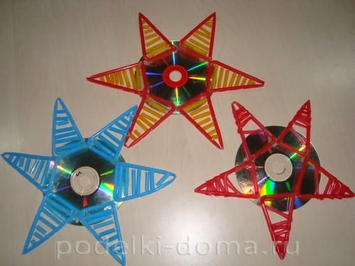 звезда из диска и трубочек 01