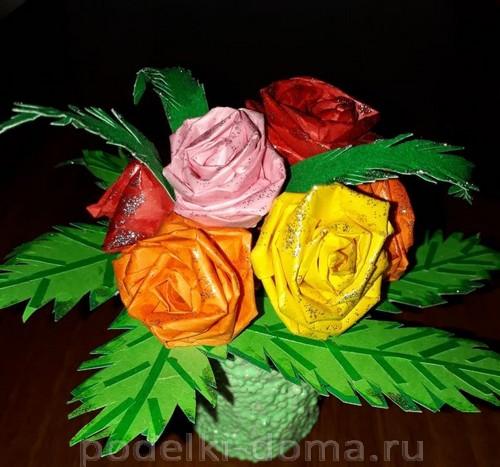 Rosas mula sa papel
