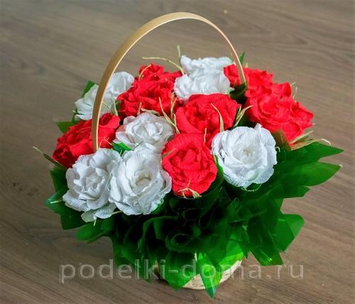 Basket ng mga rosas mula sa corrugation 47.
