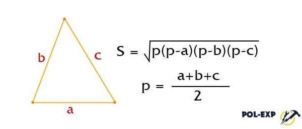 Si el triángulo no está directo, entonces es posible calcular su área utilizando la fórmula Geron