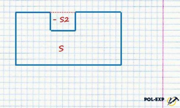 Cálculo del área con corte.
