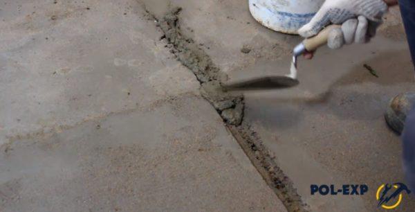 Цемент ерітіндісімен алынған ойықтарды герметизациялау