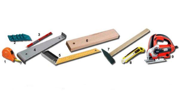 Εργαλεία που χρησιμοποιούνται σε πλαστικοποιημένα δάπεδα επίστρωσης
