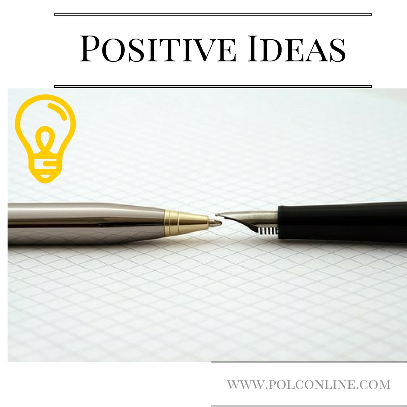 How to get positive writing ideas