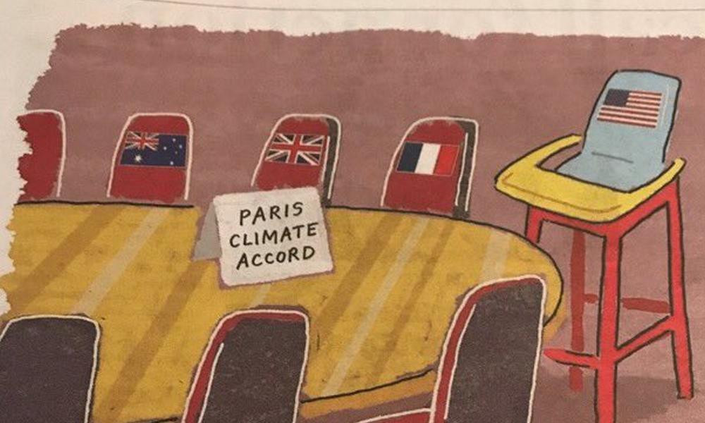Hilarious Drawing About Trump Leaving Paris Climate Deal