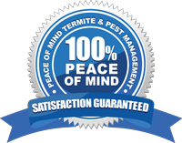 Termite and pest control satisfaction guarantee badge