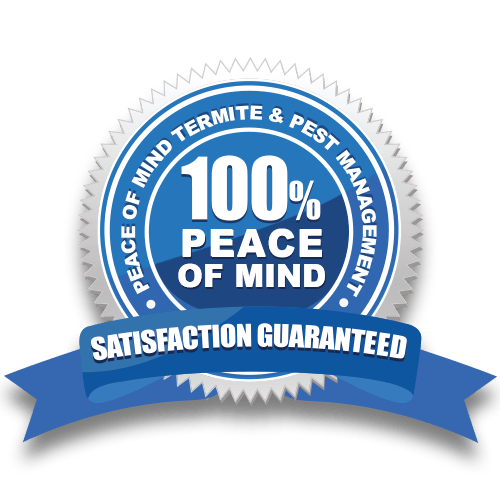 100% Peace of Mind - Termite and Pest Management Satisfaction Guarantee
