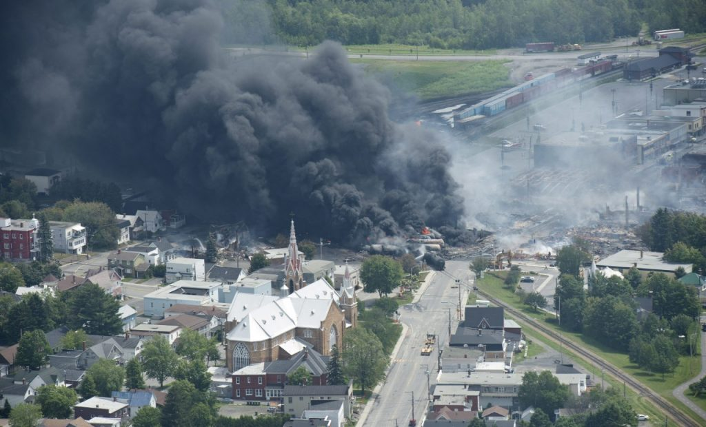 Life in Canadian Town After Oil Explosion and Fire ...