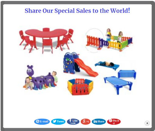 Social popup toys share special sales on the socials