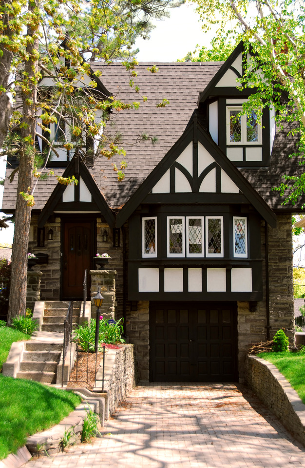 Tudor Style Front Porch