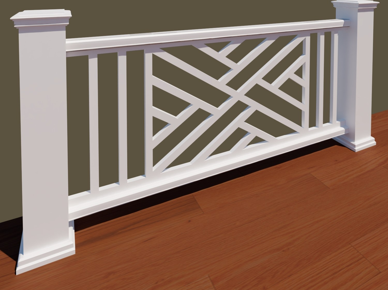 The Chippendale Panel The Porch Company   Pvc Balustrades And Handrails   Stair Railing   Hospital Corridor   Cable Railing Systems   Balcony Railing   Nsto