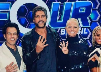Xuxa e os jurados do 'The Four Brasil'