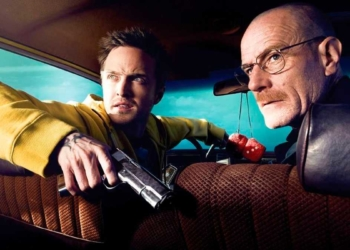 Aaron Paul e Bryan Cranston em cena de Breaking Bad