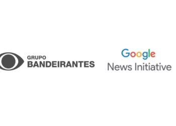 Logo do Grupo Bandeirantes e Google News Initiative |