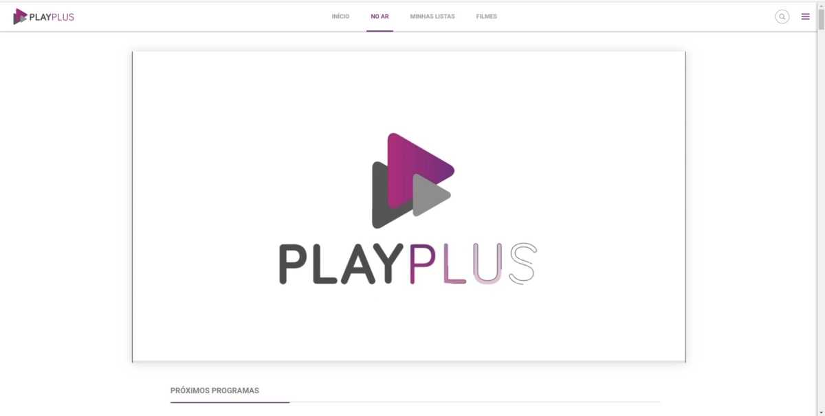 Novo player do PlayPlus na versão web