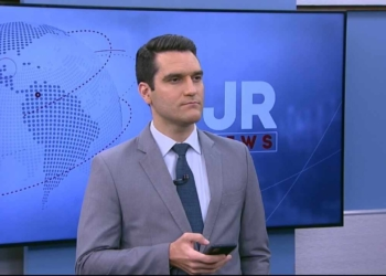 Gustavo Toledo nos bastidores do JR News