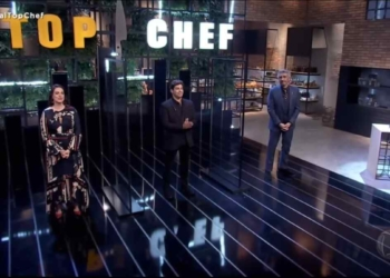 Felipe Bronze e os jurados do Top Chef Brasil