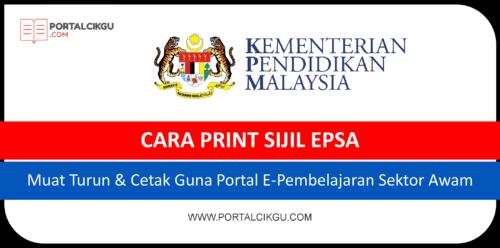 cara print sijil epsa