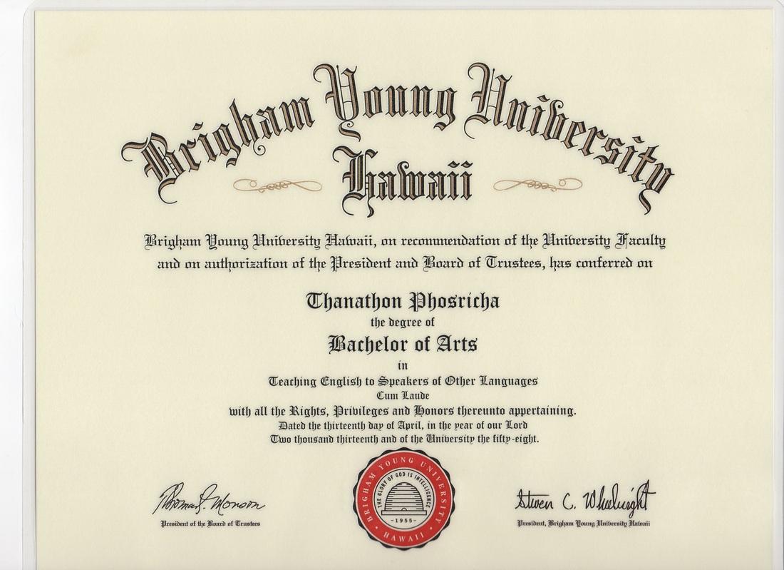 Byu Arts Diploma Bachelor