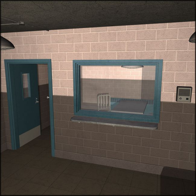 The Interrogation Room Architecture For Poser And Daz Studio