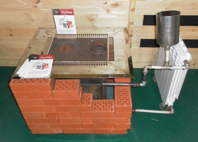 Brick oven para sa home heating.