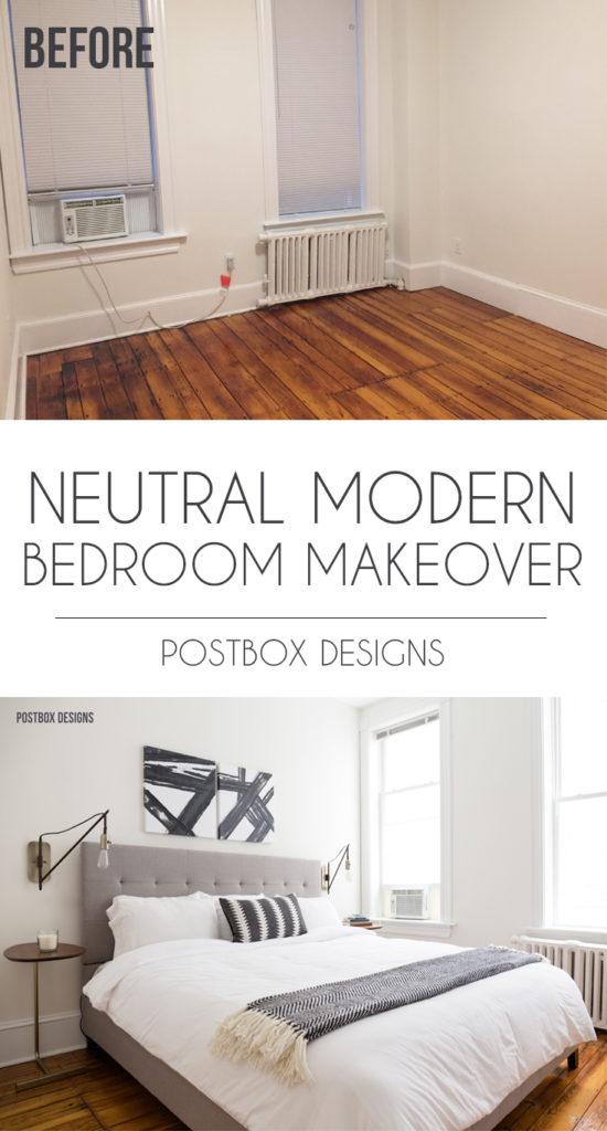 Neutral Modern Boho Bedroom Makeover Reveal See The