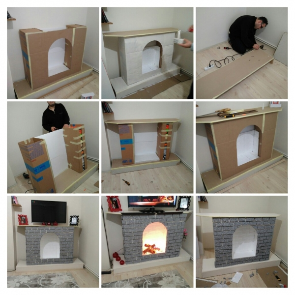 Cardboard fireplace do it yourself
