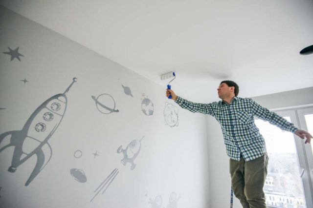 Painting Stretch Ceiling